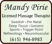 Mandy Pirie, Licensed Massage Therapist